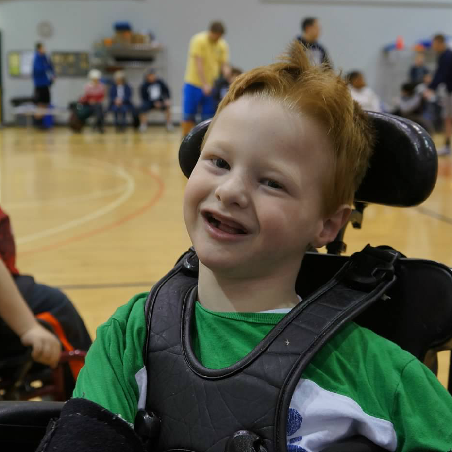 Brody in his school gym