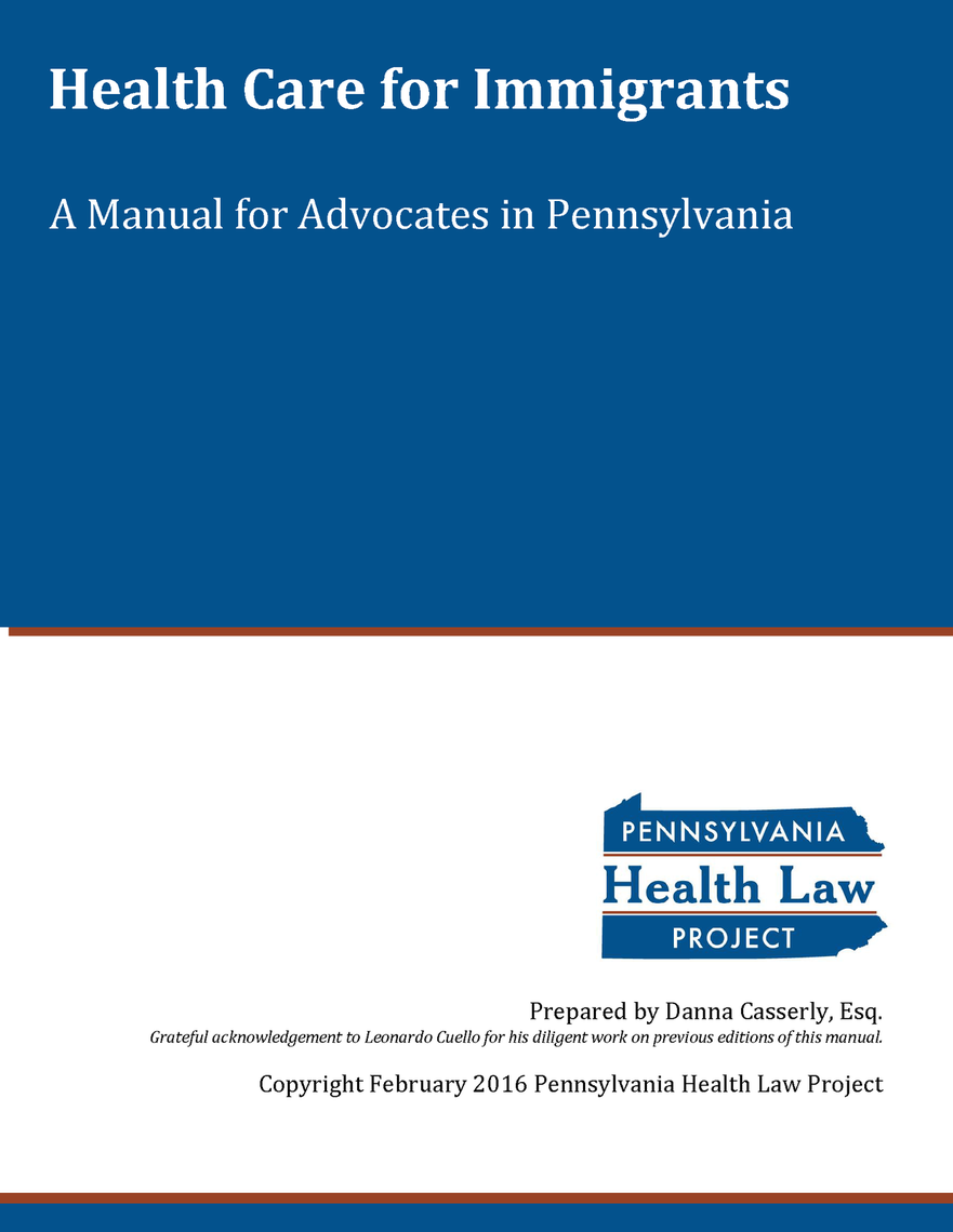 immigrant health care manual for advocates 05 2016 thumbnail