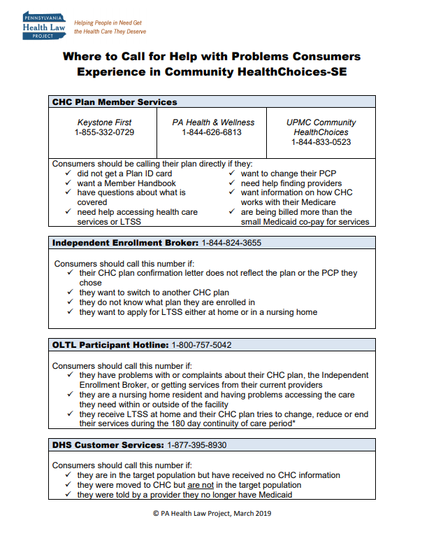chc where to call fact sheet se thumbnail