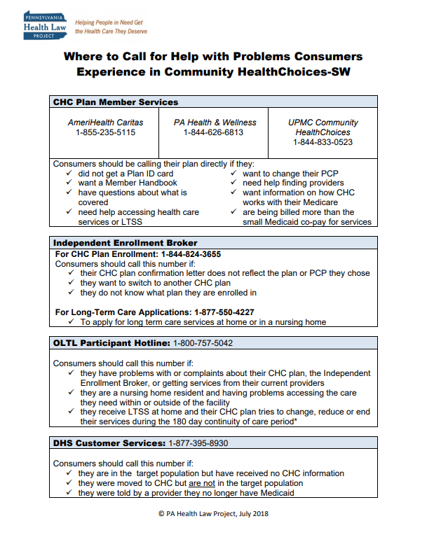 chc where to call fact sheet sw thumbnail