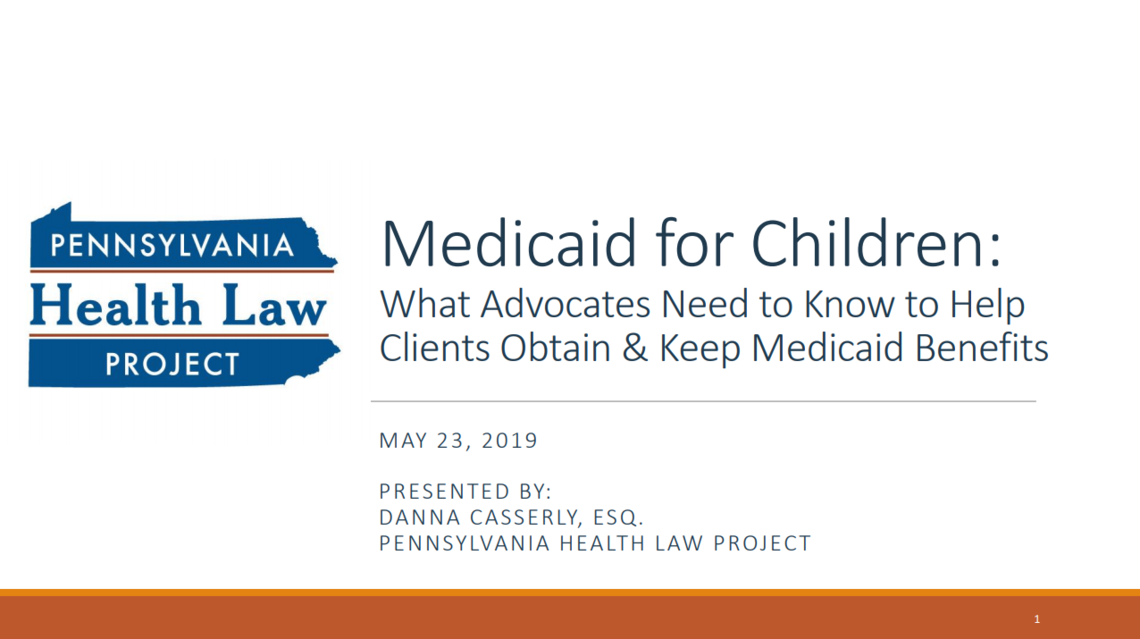 medicaid for children ppt slides thumbnail