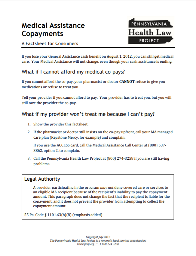 ma copay enforcement factsheet 7 2012 thumbnail