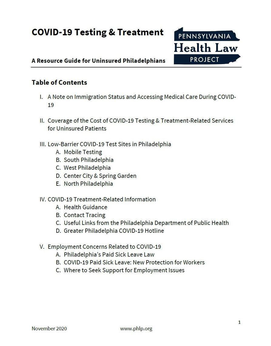 covid 19 testing treatment
