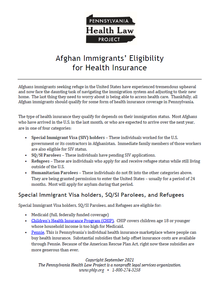 afghan immigrants eligibility for health insurance thumbnail